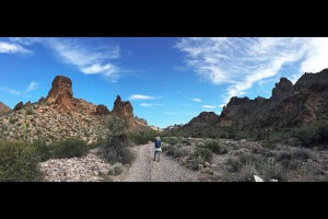 Christina on the trail in Kofa Queen Canyon