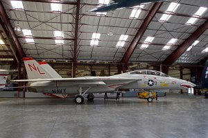 F14 Tomcat parked in the hangar