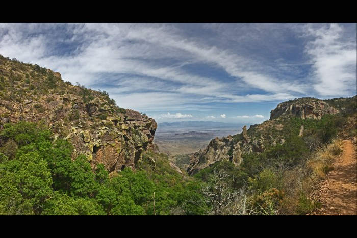 View from Boot Canyon Trail in Big Bend National Park