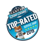 Carfax Top-Rated Badge awarded brakes to go for quality brake repair