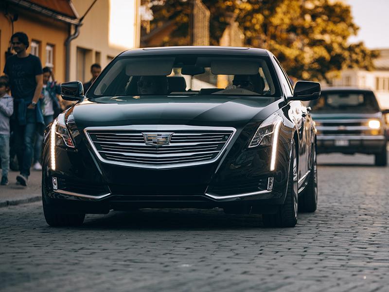 Cadillac CTS 2019 at the city street