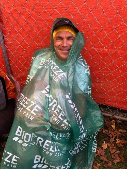 Bram Bakker bij de New York marathon