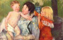 after-the-bath Mary Cassatt 1901