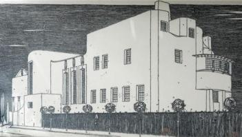 le-dessin-de-mackintosh-de-la-house-for-an-art-lover-1901 CR Mackintosh