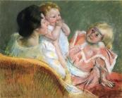 mother-and-children-1901 Mary Cassatt