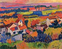 Andre Derain landscape-near-chatou-1904