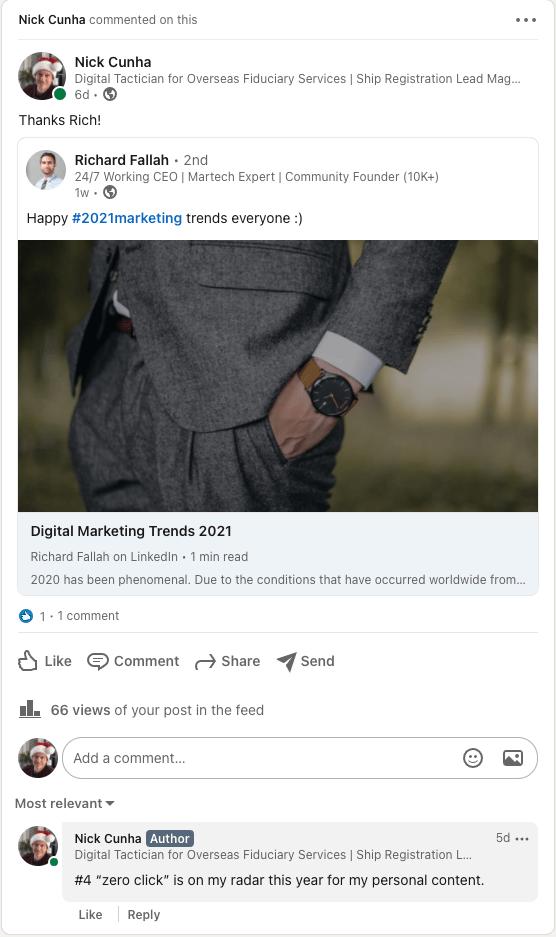 Utilisation du tableau de commentaires LinkedIn pour créer un bon profil LinkedIn