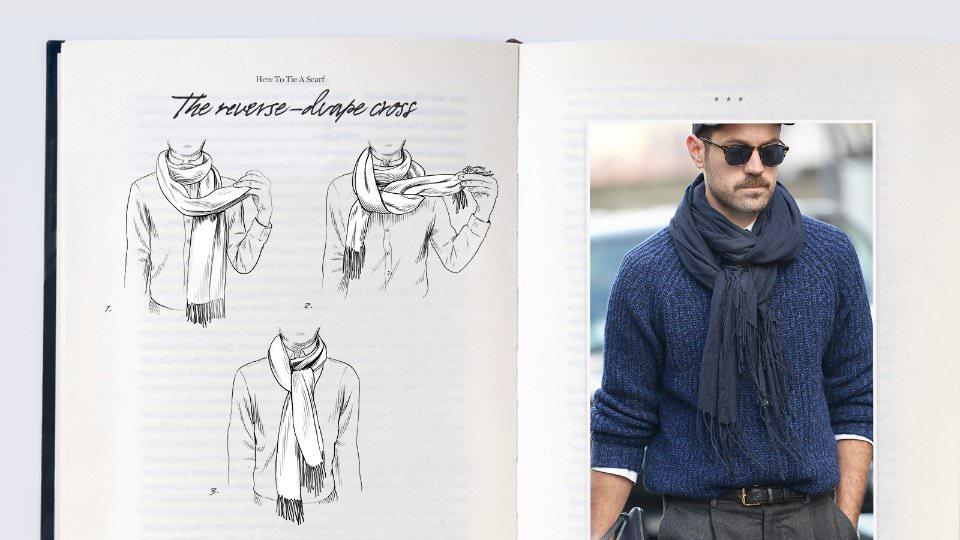 Как красиво завязать шарф на шее мужчине?