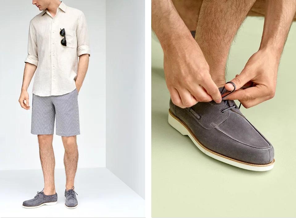 мужская обувь без носков