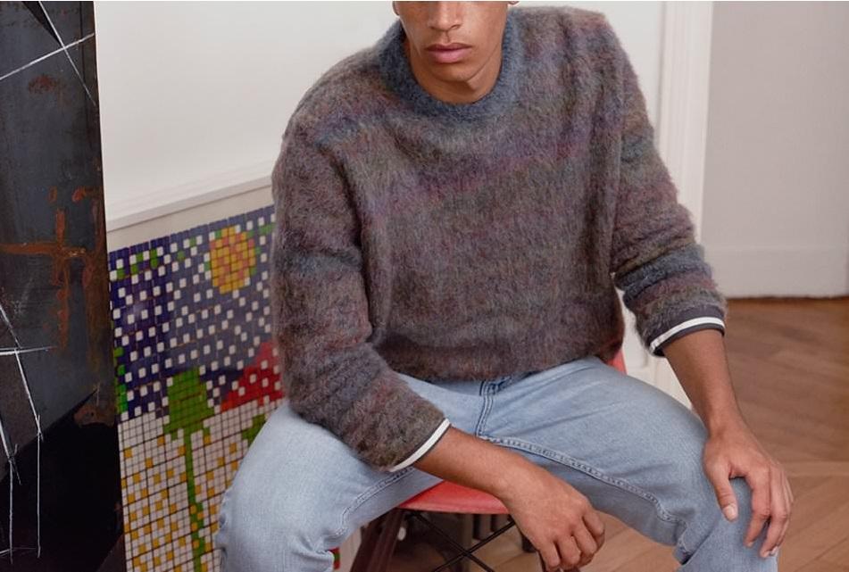 мужской свитер из мохера
