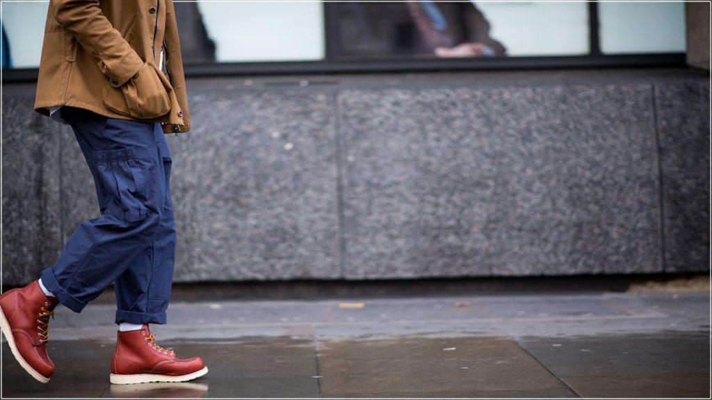 рабочий стиль ботинки