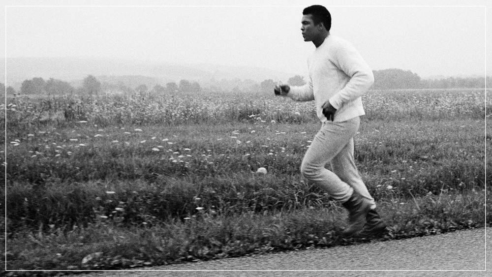 Мухаммед Али на пробежке