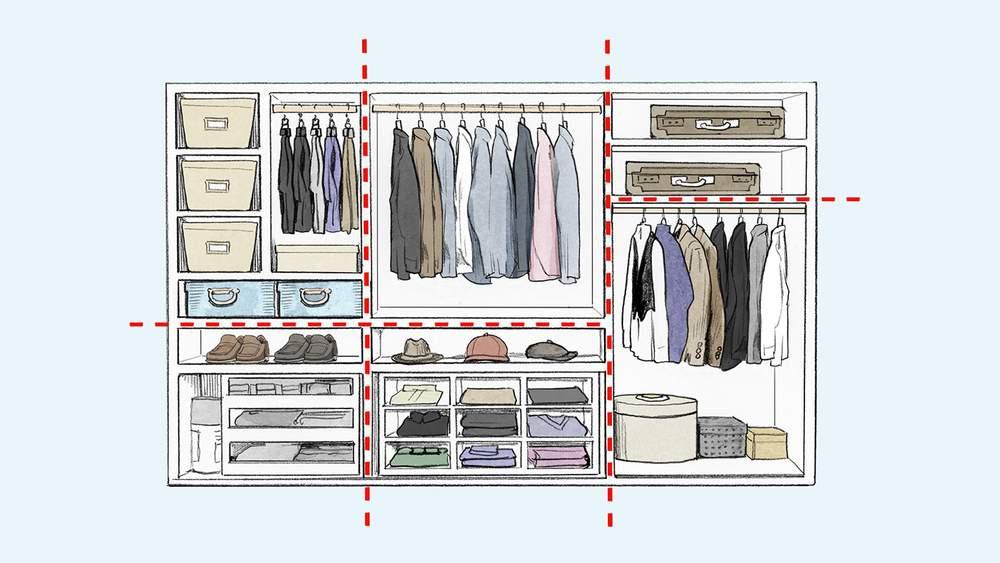 как навести порядок в гардеробе