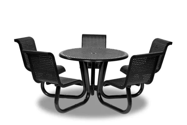 outdoor patio picnic table with attached chairs camino series portable