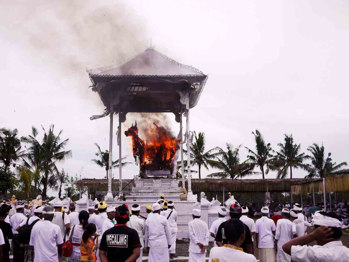Ngaben Cremation Ceremony in Ubud Bali