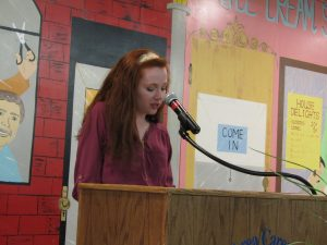 Emily Wood Speaking during OJT Banquet