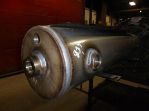 round pipe displaying welds