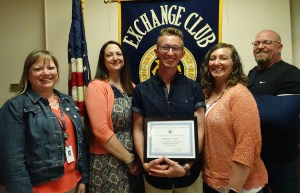 Hunter Trine Exchange Club Honoree