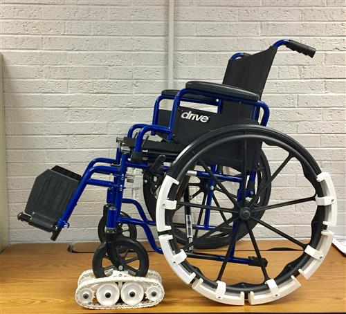 Wheelchair side view