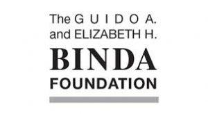 Black & white Binda Foundation logo