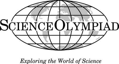 Wire Globe with text Science Olympiad