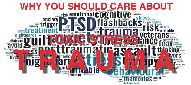 Trauma word art