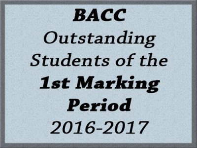 BACC Outstanding Students