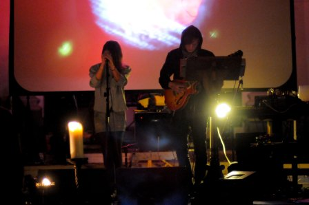 Brighton's Esben & The Witch on stage at Shoreditch Church, supporting Icelandic band amiina in 2009