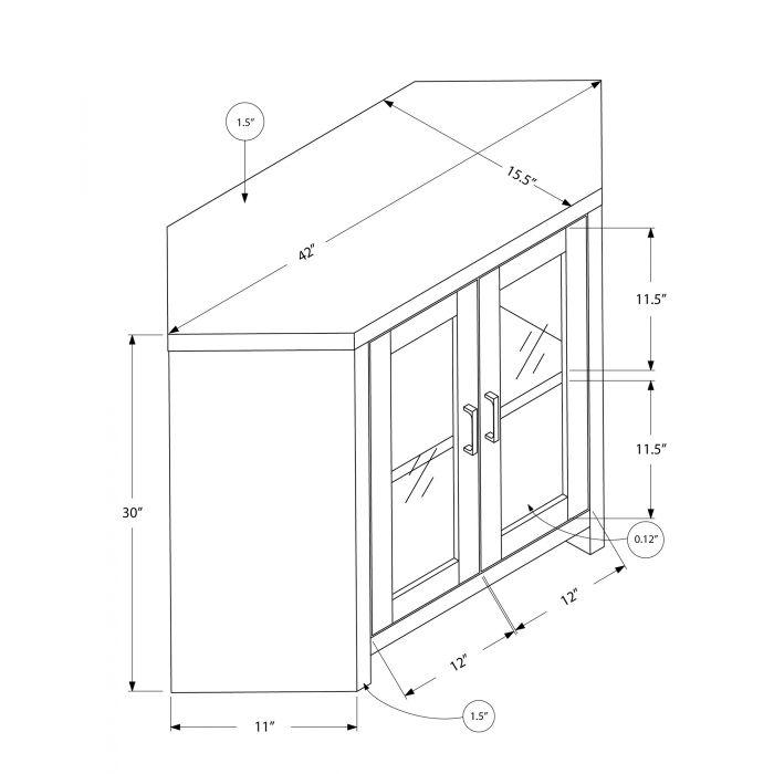meuble tv 42 l en coin faux bois noir monarch i 2716