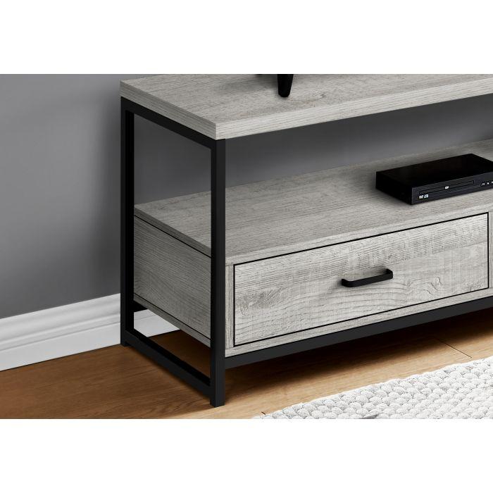 meuble tv 48 l gris metal noir monarch i 2871
