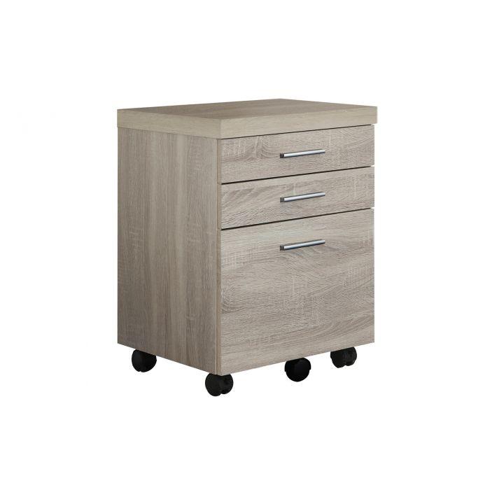 classeur 3 tiroirs bois naturel sur roulettes monarch i 7050
