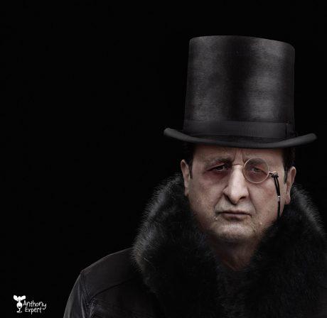 François Hollande en Pingouin © Anthony Expert
