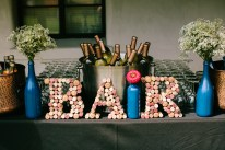 BAR sign made of corks