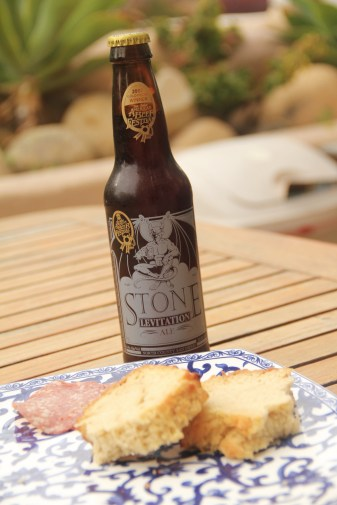 vertical beer bread salame & beer