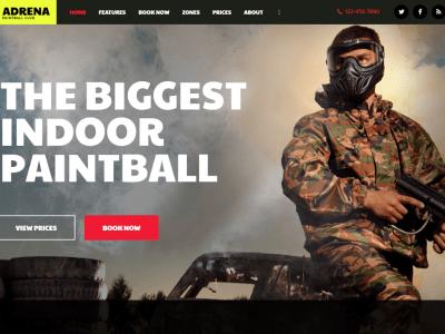 Adrena - Airsoft Club & Paintball WordPress Theme Boxed Layout