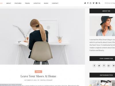 Ailsa - Personal Blog WordPress Theme Sidebar