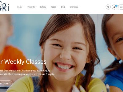 Aki - Multipurpose Kids WordPress Theme Home 4