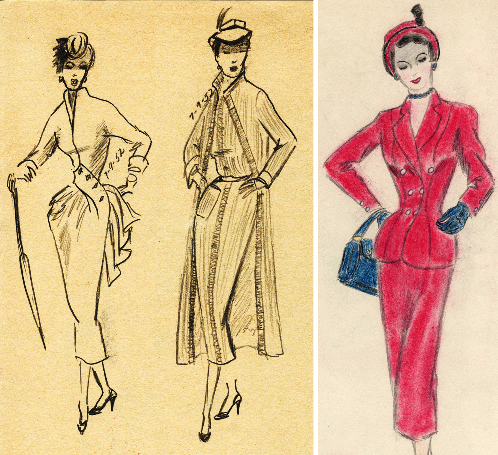 1950s fashion figures