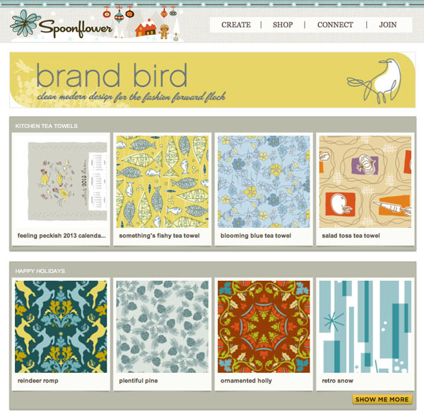 Brand Bird Spoonflower Shop