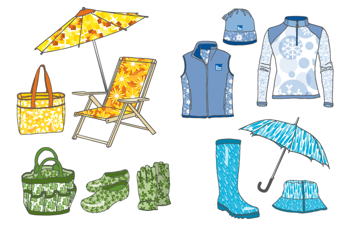 The Weather Channel Style Guide Product Samples