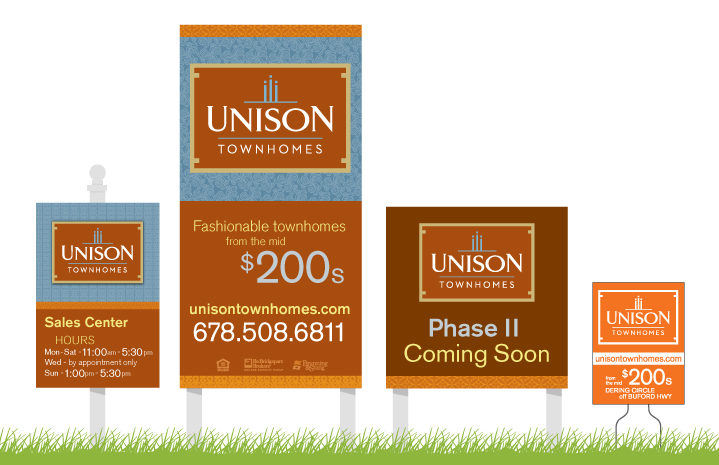 Unison Townhomes Marketing Signs