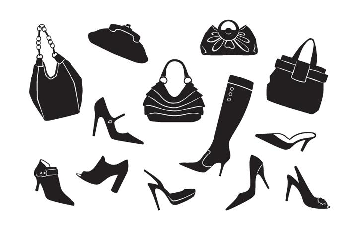 shoe and handbag icons