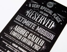 Launch Invitation for Ardbeg 'Galileo' Whisky