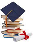Graduation-hat-and-books