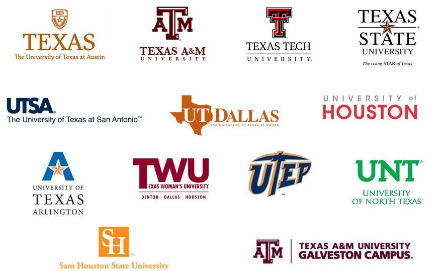tx college logos