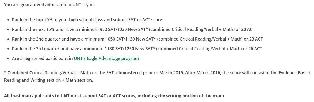 unt admissions