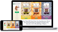 Healthy Organic Dog Biscuits, LLC website design