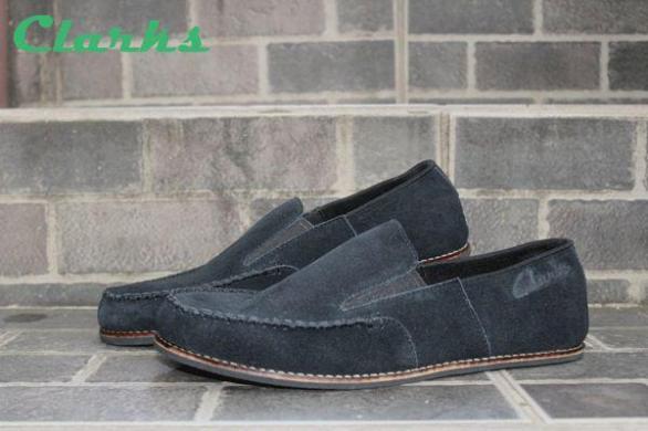 BC0002 Clarks Venice Black Suede - Rp. 220000