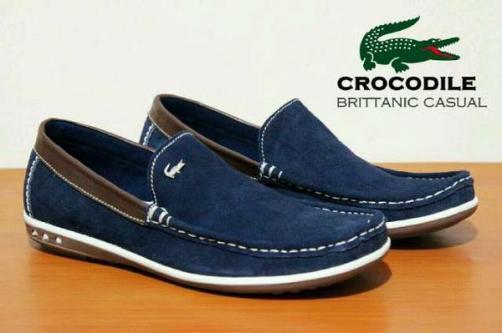 BC0069 Navy Crocodile Brittanic Suede - Rp. 190000