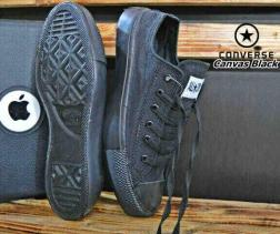 BC0256 Black Converse All Star Low - Rp. 135000